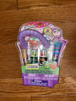 Shopkins Beauty Set Lip Gloss & Nail Polish for Sale in Fairfax, VA