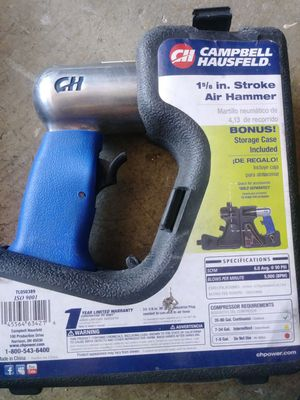 Campbell Hausfeld 1 5/8 stroke air hammer for Sale in Tracy, CA