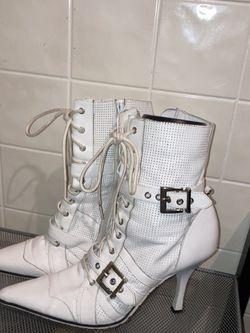 Size 8 white stiletto boots for Sale in Las Vegas,  NV
