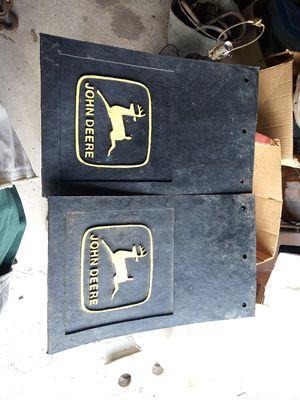 John Deere Mud Flaps 16 by 10 in for Sale in Jonesville, MI