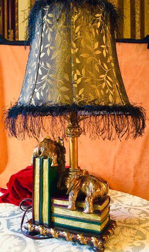 Vintage ceramic composite desk lamp Elephants H26xW15 inch L for Sale in Chandler, AZ