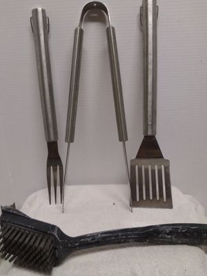 Grill Set • Spatula • Fork • Tongs • Brush for Sale in Peoria, AZ