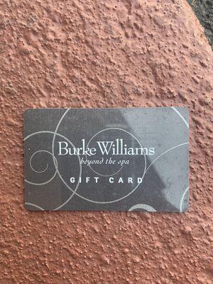 Burke Williams card 300 on it for Sale in Sacramento, CA