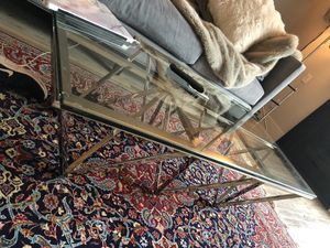 Glass and chrome coffee table for Sale in Los Angeles, CA