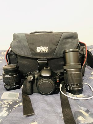 LIKE NEW Canon Rebel DSLR Camera With TWO Lenses for Sale in Burbank, CA