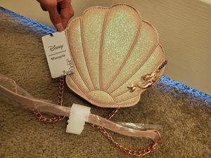 Loungefly Disney Ariel Little Mermaid glitter Shell purse for Sale in Grand Terrace, CA