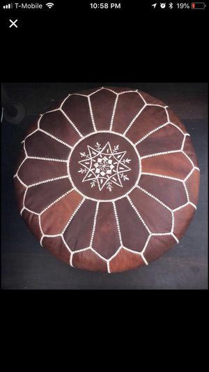 Moroccan Handmade Pouf Ottomans - Dark Brown -New for Sale in New York, NY