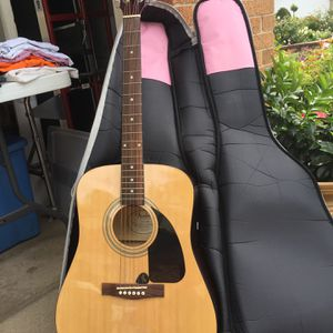 Fender Acoustic Guitar With Stand And Case for Sale in La Grange Highlands, IL