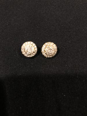 10k gold with 1 ctw white diamond earrings authentic and diamond tested. for Sale in San Francisco, CA