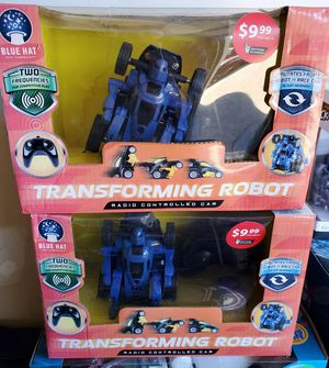 New remote control transforming robot $6 each for Sale in Riverside, CA