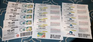 15 Target & manufacturer Pampers diapers & wipes coupons for Sale in Plantation, FL