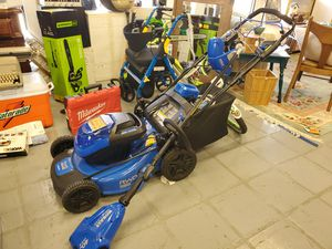 3 pc Kobalt lawnmower, weedeater & blower set for Sale in Austin, TX