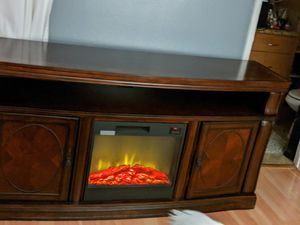 TV stand with fire 🔥 place for Sale in Vallejo, CA