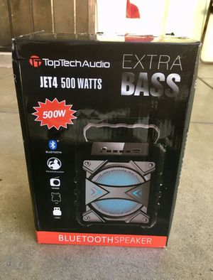4 inch Mini 500 Watt Rechargeable Bluetooth Speaker/Aux/FM/USB/ LED And SD Port for Sale in Riverside, CA