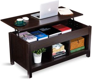 Lift Top Coffee Table with Hidden Storage Compartment & Shelf, Modern Lift Tabletop Dining Table for Living Room Office Reception, Espresso for Sale in Temple City, CA