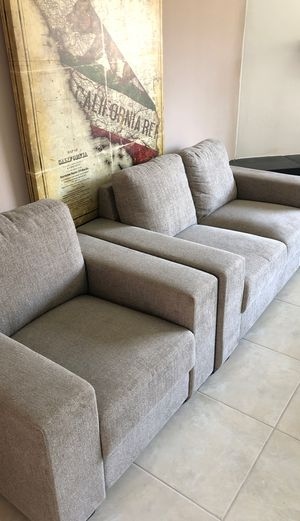 Small couch and chair for Sale in Rancho Mirage, CA