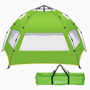 YAAO Easy Up Beach Tent Family Beach Sun shelter Deluxe Wide View of the 3 Windows for Sale in Ontario, CA