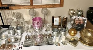 Table full of home decor NEW $5-$20/each for Sale in Mokena, IL