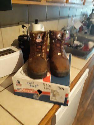 Steel blue, steel toe work boots size 10 1/2 for Sale in La Porte, TX