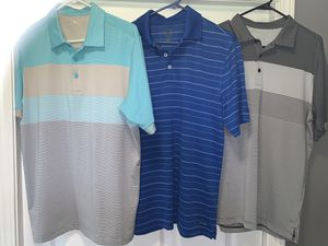 Golf shirts size medium (2) Antigua (1) champions for Sale in Cadwell, GA
