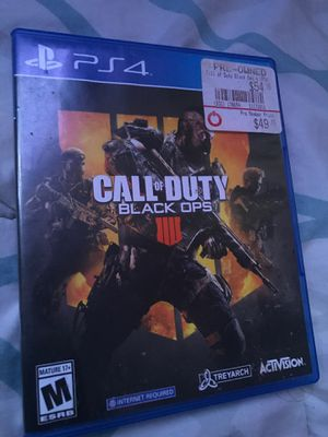 Call of Duty Black Ops 4 PS4 for Sale in Dinuba, CA