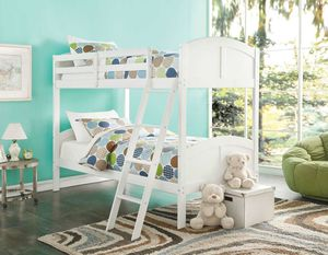 Twin/Twin Bunk Bed - 37009 - White 5BUAB for Sale in Pomona, CA