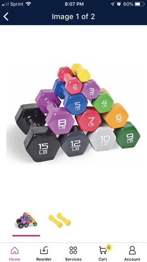 Combo set only 4pcs barbell vinyl for Sale in Duluth, GA