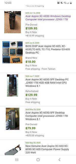 Acer desktop computer tower for Sale in Columbus, OH