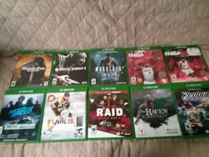Xbox one games all playable for Sale in Spencer, NY