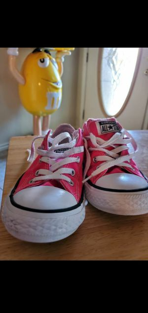 Converse bubble gum pink size girls 1.5 worn once for Sale in Round Rock, TX