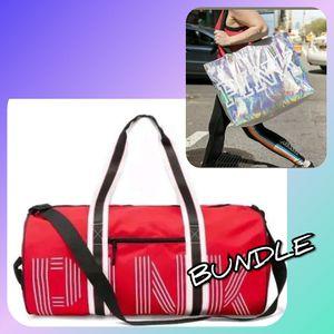 Victoria secret PINK duffle bag & XL tote for Sale in Carol Stream, IL