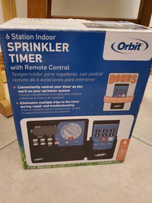 Orbit sprinkler timer 6 station with control remote. for Sale in Pharr, TX