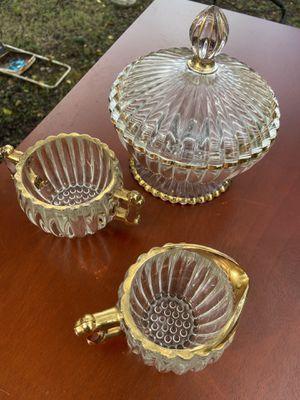 Glass tea set, gold trim for Sale in Montgomery, AL