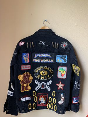 Supreme Patches Denim Jacket for Sale in Little Elm, TX