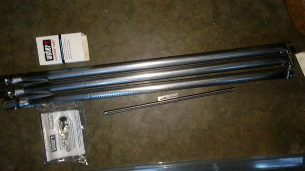 Replacement Weber burners and rotisserie
