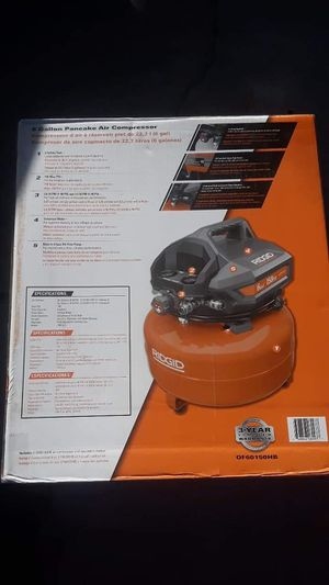New Ridgid Pancake Air Compressor 6 Gallon ☆Pick up only☆ for Sale in Phoenix, AZ