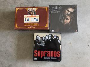 Sopranos, LA Law & Twilight Board Games Lot for Sale in Port St. Lucie, FL