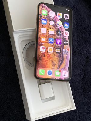 Iphone XS Max 256gb Factory Unlocked Gold Smartphone 100% battery New Condition Att Tmobile Worldwide for Sale in Doral, FL