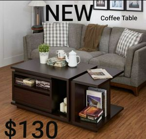 Modern Multi-Storage Coffee Table in Walnut for Sale in Montebello, CA