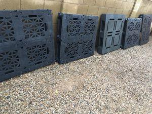 5 plastic pallets for Sale in Glendale, AZ
