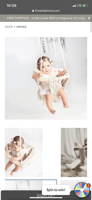 Brand new Finn and Emma macrame baby swing for Sale in Bonita Springs, FL