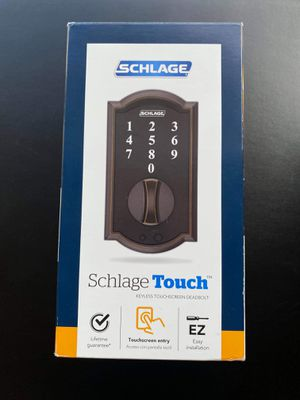 Camelot Aged Bronze Touch Electronic Door Lock Deadbolt for Sale in Denver, CO