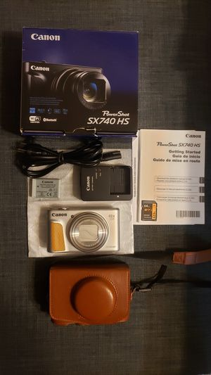 Canon PowerShot SX740 Digital Camera w/40x Optical Zoom & 3 Inch Tilt LCD - 4K VIdeo, Wi-Fi, NFC, Bluetooth Enabled (Sliver) for Sale in Rowland Heights, CA