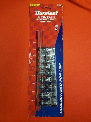 NEW Duralast 9pc Flex Socket Set Metrix for Sale in Santa Paula, CA