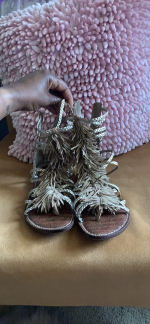 Fringe Metallic Gladiator Sandals for Sale in Philadelphia, PA