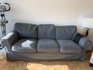 Sofa, ikea EKTORP sofa Nordvalla dark gray for Sale for sale  Jersey City, NJ