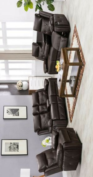Melody 3pc Reclining Living Room Set for Sale in Houston, TX