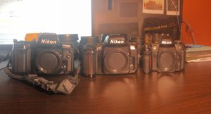 3 Nikon film cameras 4 lenses for Sale in Schaumburg, IL