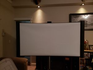 Portable projector screen with surround sound for Sale in Dallastown, PA