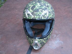 Camouflage Motorcycle Helmet Large Dot Approve No Shield for Sale in Croydon, PA